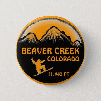 Beaver Creek Colorado orange snowboard art button