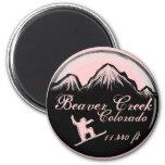 Beaver Creek Colorado pink snowboard art magnet