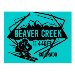 Beaver Creek Colorado ski elevation postcard