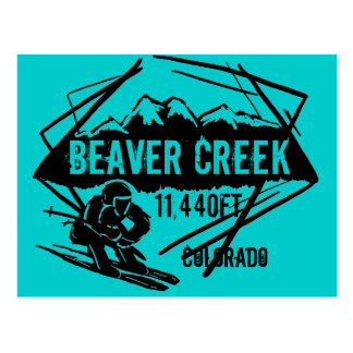 Beaver Creek Colorado ski elevation postcard