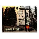 Beaver Creek Colorado ski lift postcard