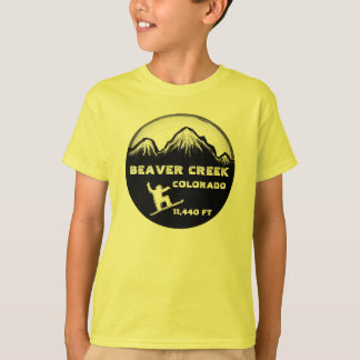 Beaver Creek Colorado snowboard art boys tee