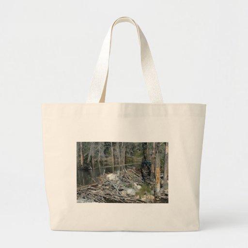 Beaver Dam Large Tote Bag
