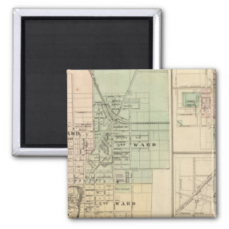 Beaver Dam, Waupun and New Lisbon 2 Inch Square Magnet