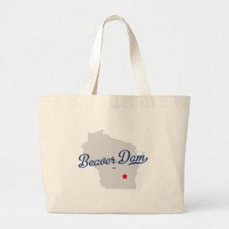 Beaver Dam Wisconsin WI Shirt Canvas Bags