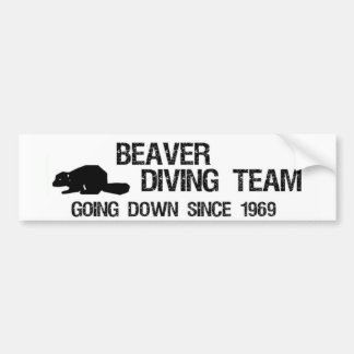 Beaver Diving Team Bumper Sticker