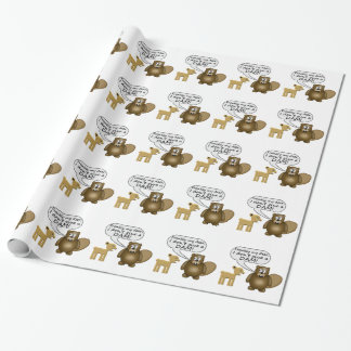 Beaver Don't Give A Dam Wrapping Paper
