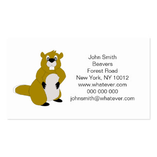 Beaver Double-Sided Standard Business Cards (Pack Of 100)