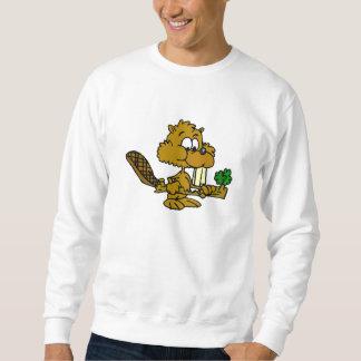 Beaver Eating Branch Sweatshirt