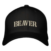 BEAVER EMBROIDERED BASEBALL HAT