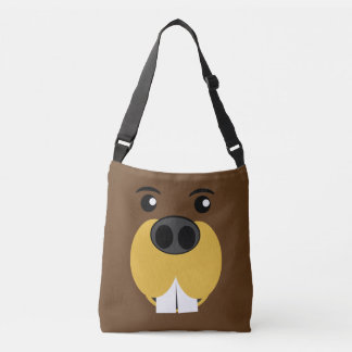Beaver Face Crossbody Bag