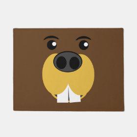 Beaver Face Doormat