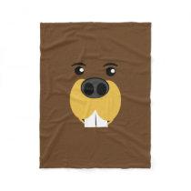 Beaver Face Fleece Blanket