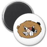 Beaver Face Fridge Magnet