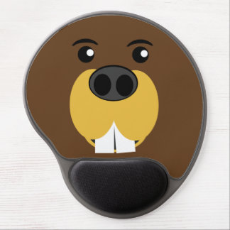 Beaver Face Gel Mouse Pad
