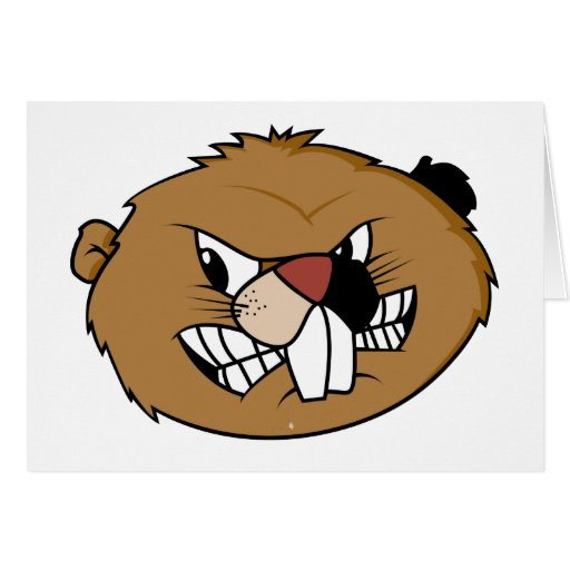 Beaver Face Greeting Cards