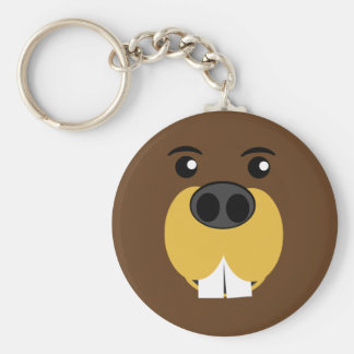 Beaver Face Keychain