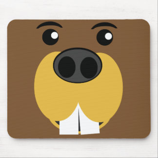 Beaver Face Mouse Pad