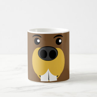 Beaver Face Coffee Mugs