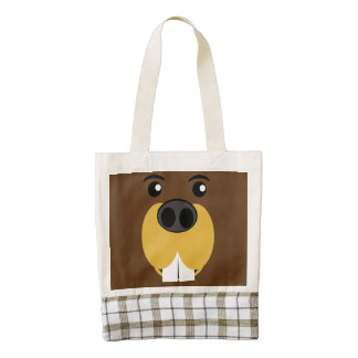 Beaver Face Zazzle HEART Tote Bag