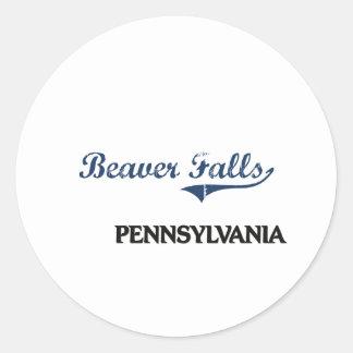 Beaver Falls Pennsylvania City Classic Round Sticker