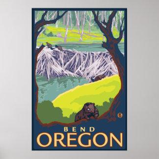 Beaver Family - Bend, Oregon Poster