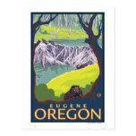 Beaver Family - Eugene, Oregon Postcard