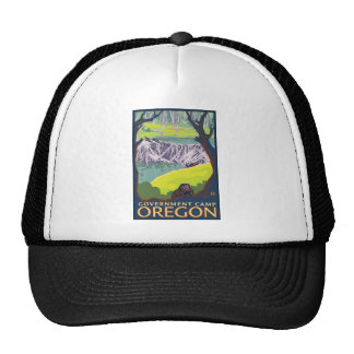 Beaver Family - Government Camp, Oregon Mesh Hats