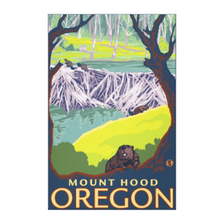 Beaver Family - Mount Hood, Oregon Canvas Print
