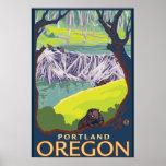 Beaver Family - Portland, Oregon Print