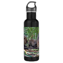 Beaver Family Stainless Steel Water Bottle