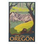Beaver Family - The Dalles, Oregon Wood Wall Art