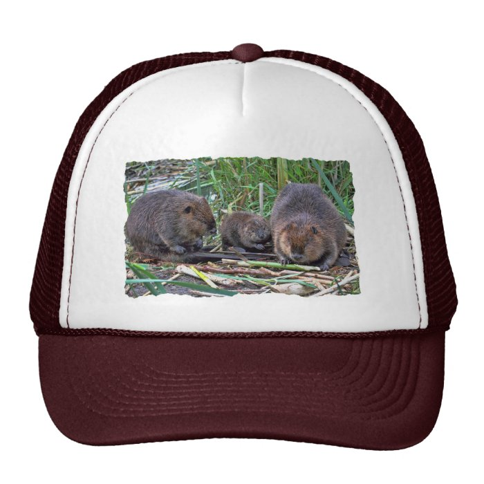 Beaver Family Trucker Hat
