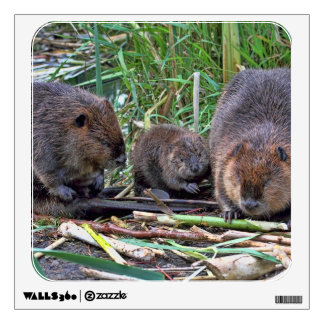Beaver Family Wall Decals