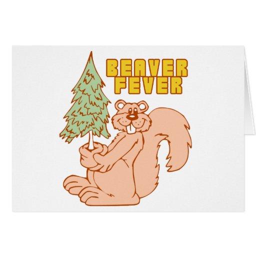 BEAVER FEVER GREETING CARD