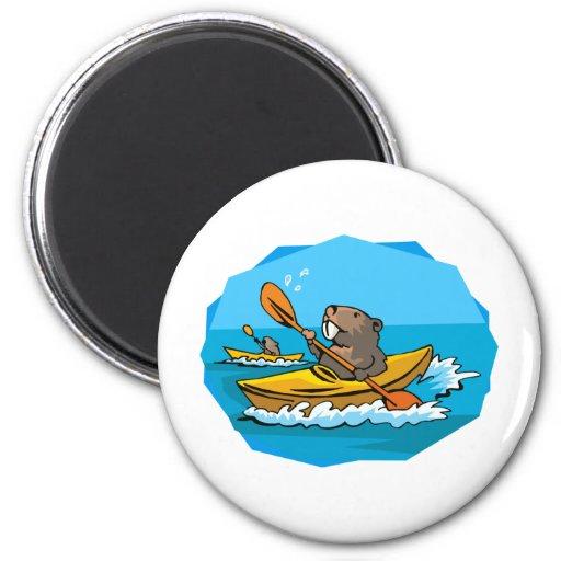 Beaver Fridge Magnet