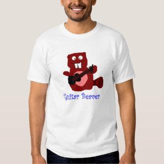 beaver guitar t shirt