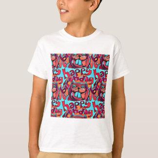 beaver happy birthday cartoon style illustration T-Shirt