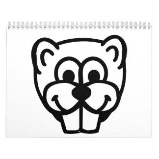 Beaver head face calendar