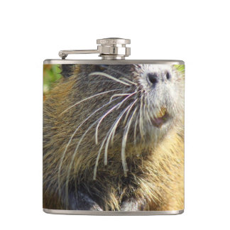 Beaver Hip Flask