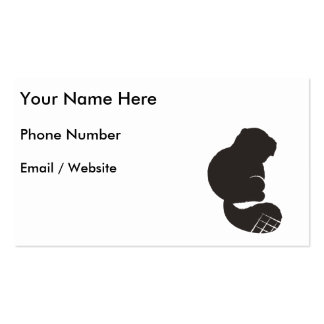 Beaver Icon, Nocturnal Rodent Double-Sided Standard Business Cards (Pack Of 100)