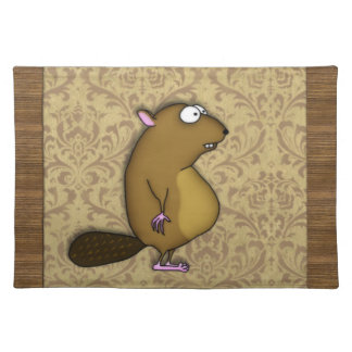 Beaver in Profile Cloth Placemat