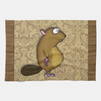 Beaver in Profile Hand Towel