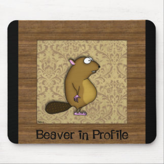 Beaver in Profile Mouse Pad