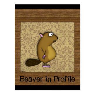 Beaver in Profile Postcards