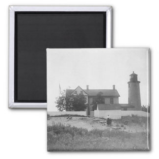 Beaver Island Head Lighthouse 2 Inch Square Magnet