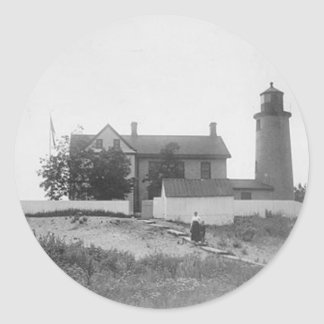 Beaver Island Head Lighthouse Classic Round Sticker