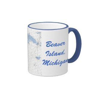 Beaver Island, MI nautical Chart Mug