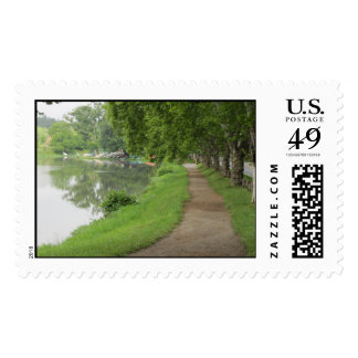 Beaver Lake in the summer postage stamp