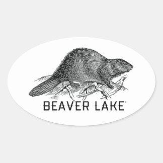 Beaver Lake Oval Sticker
